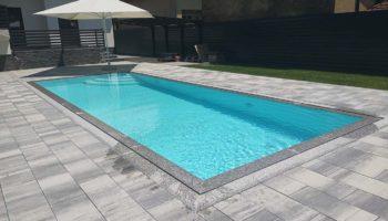 Preljevni bazen 9,0×3,3×1,5m bijeli, lokacija Slatina